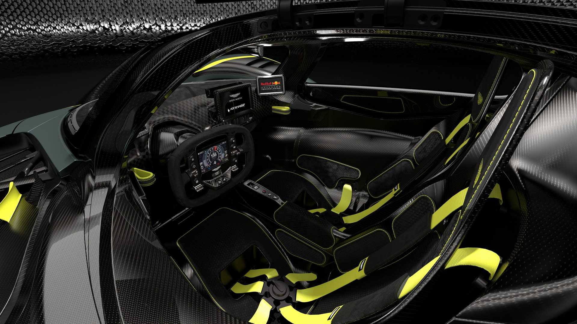 Aston Martin Valkyrie AMR Track Performance Pack interior