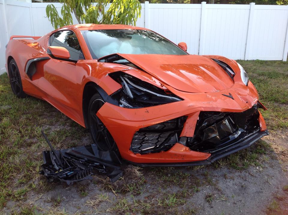 Chevrolet C8 Corvette Crash