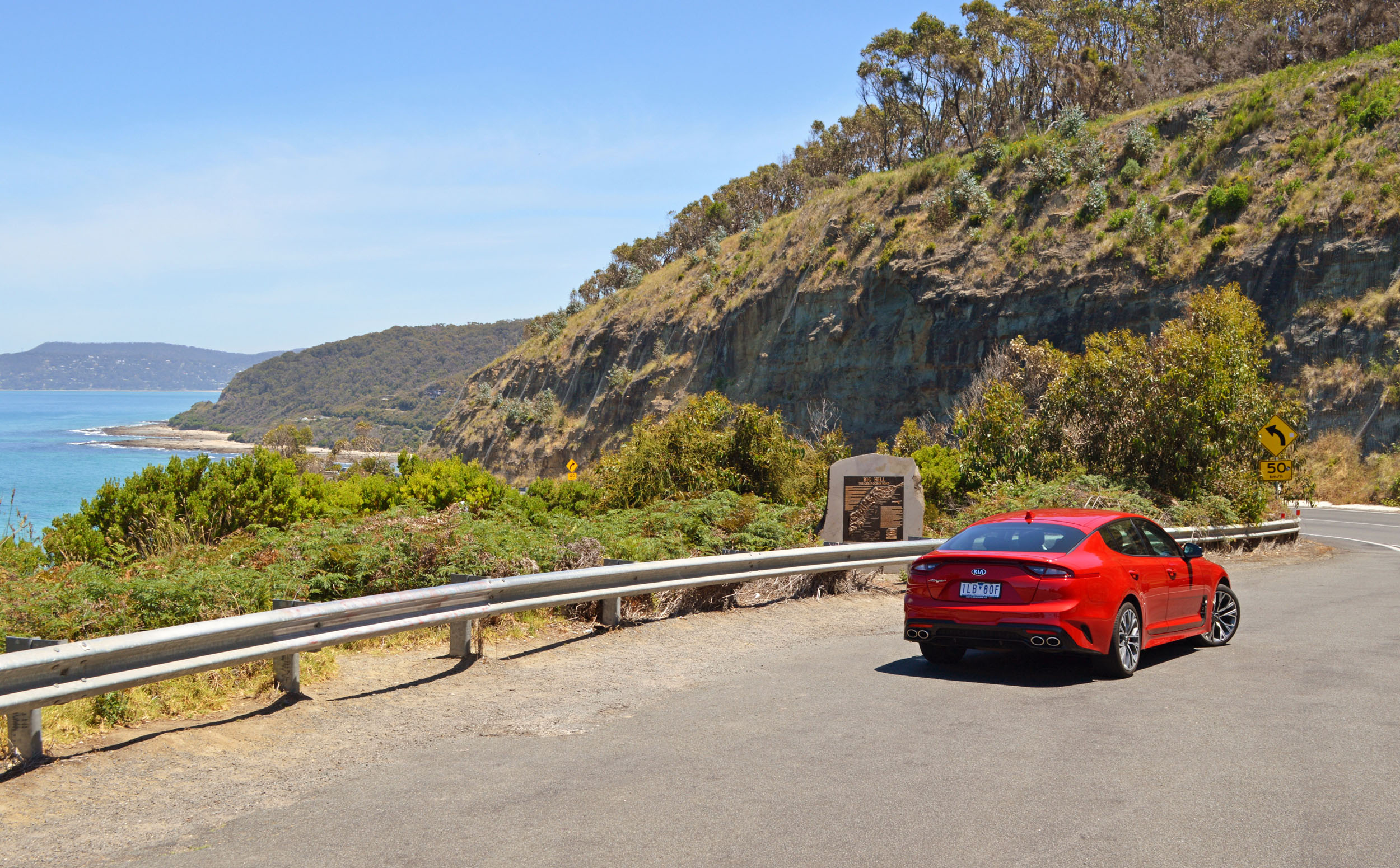 Kia Stinger at the Great Ocean Road