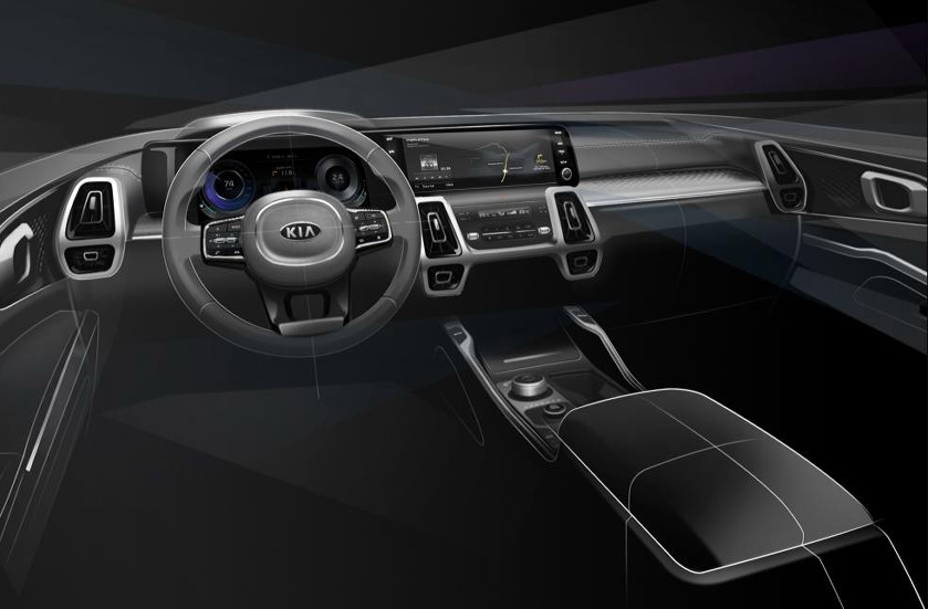 Kia Sorento 2020 interior official sketch