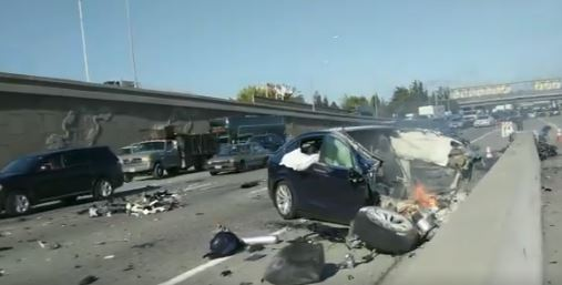 Tesla fatal crash California