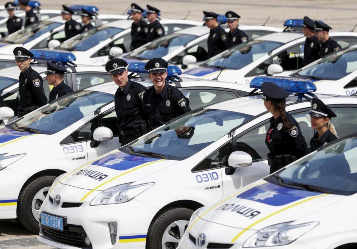 ukrainian police car