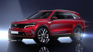Kia Sorento 2020 exterior official sketch